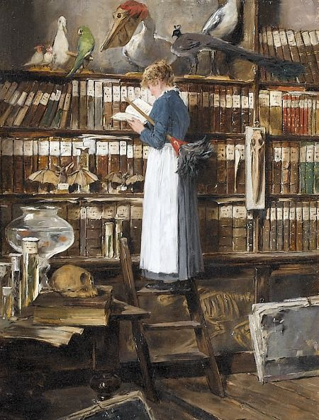 edouard-john-mentha-maid-reading-in-a-library-bookfawn-1442687631_b